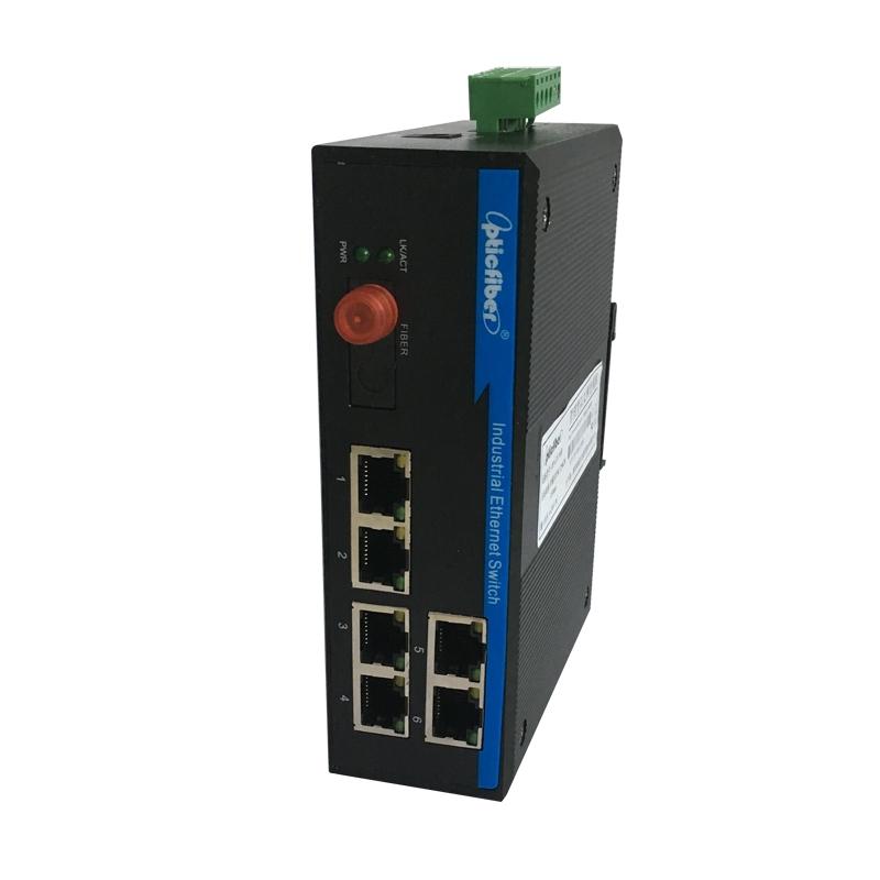 管理型百兆1光6电光纤交换机