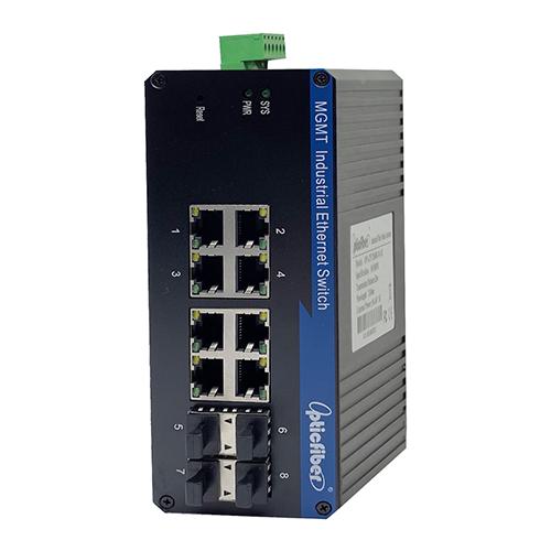管理型千兆4光8电工业级以太网交换机