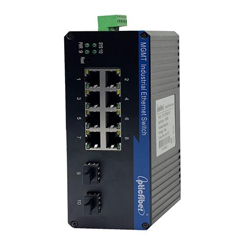 管理型千兆2光8电工业级以太网交换机