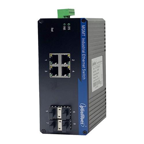 管理型千兆4光4电工业级以太网交换机