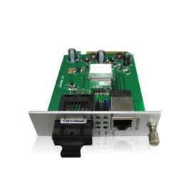 卡式百兆1光1电光纤收发器